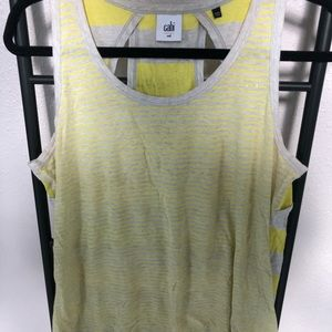 Grey and Yellow Striped Tank